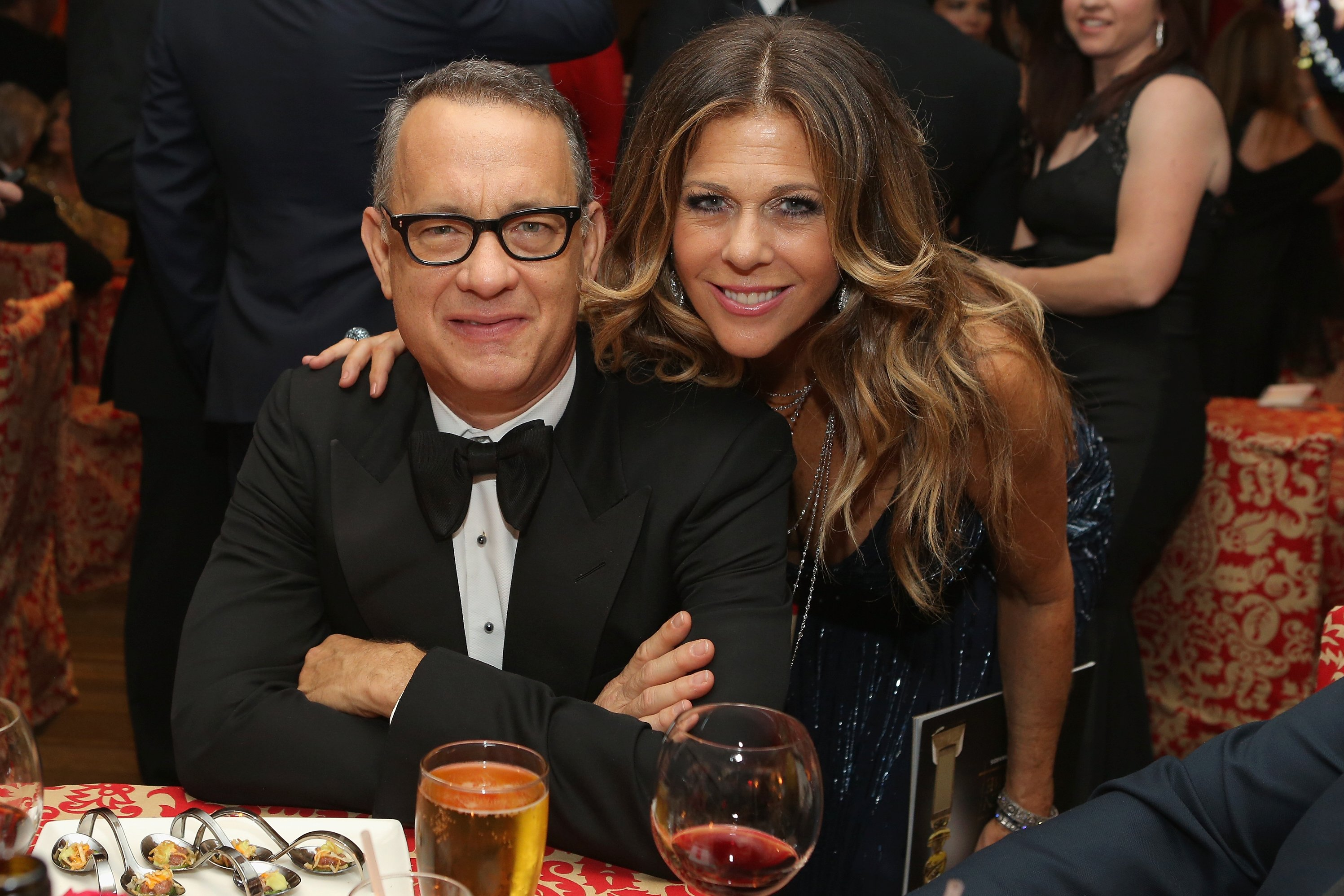 Image Credits: Getty Images / Mike Windle | Actors Tom Hanks (L) and Rita Wilson attend HBO's Post 2014 Golden Globe Awards Party at Circa 55 Restaurant on January 12, 2014 in Los Angeles, California.