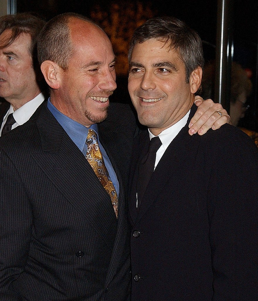 Image Credits: Getty Images / Gregg DeGuire/WireImage | Miguel Ferrer and his cousin George Clooney