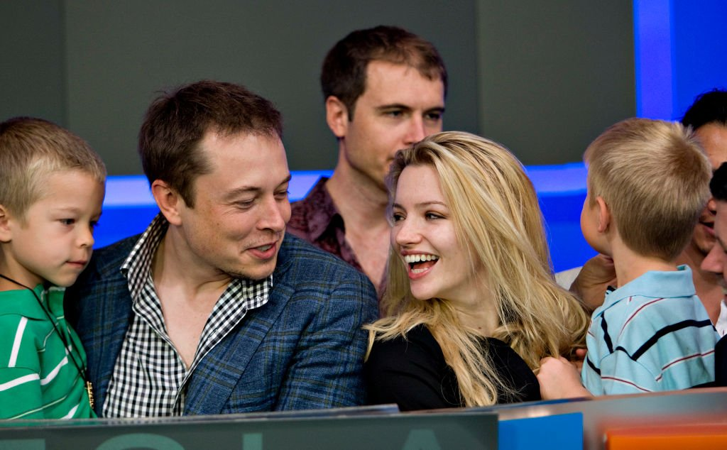Elon Musk, chairman and chief executive officer of Tesla Motors, with family and former wife, Talulah Riley in 2010.