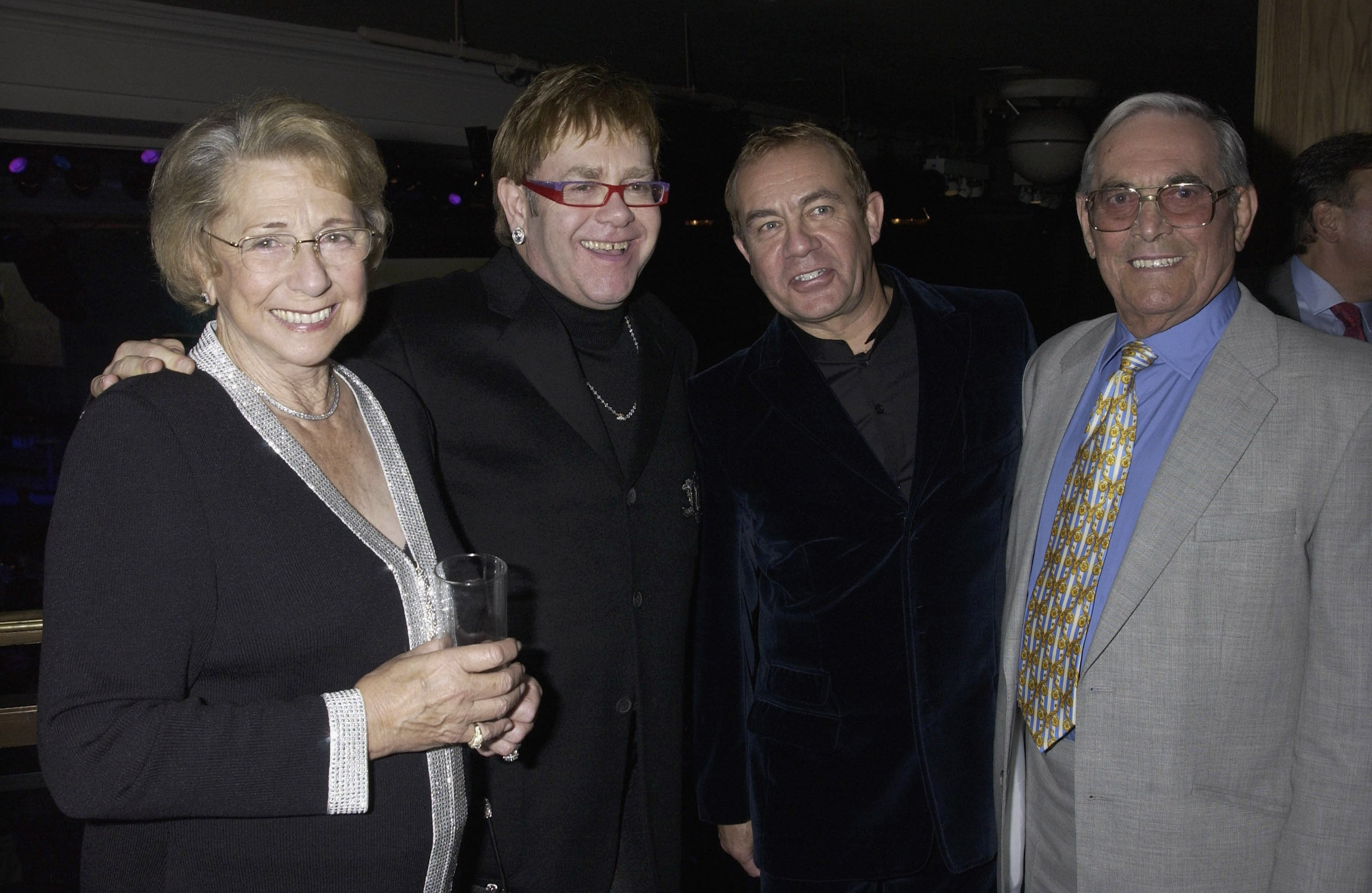 Image Credits: Getty Images / Elton John is pictured amongst some of his guests.
