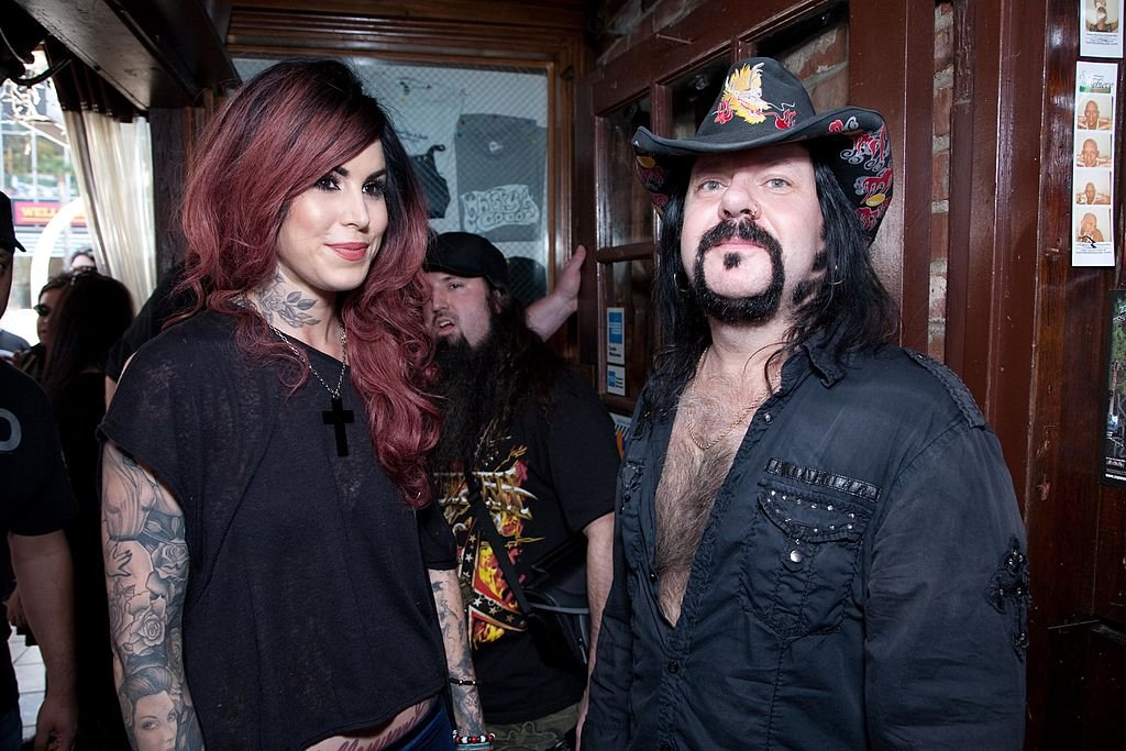 Image Credits: Getty Images / Tiffany Rose / WireImage | Kat Von D of LA Ink and Vinnie Paul of Pantera attend the 2nd Annual Golden Gods Awards Nominees and Press Conference at The Rainbow Bar and Grill on February 17, 2010 in Los Angeles, California.