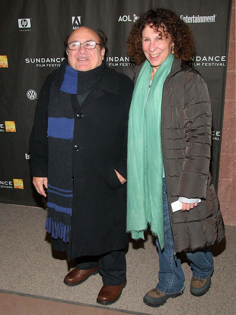 "Image Source: Getty Images/Michael Loccisano/Danny DeVito and Rhea Perlman during 2007 Sundance Film Festival - ""The Good Night"" Premiere at Eccles in Park City, Utah, United States"