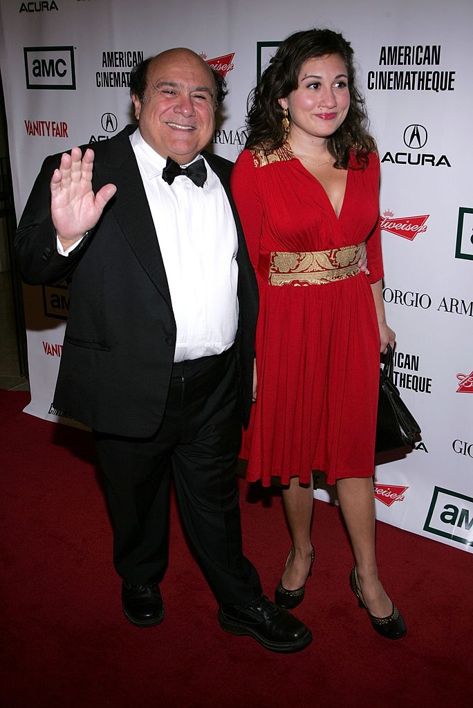 Image Source: Getty Images/Mark Mainz/Actor Danny DeVito and daughter Lucy arrive at the 21st Annual American Cinematheque Award Honoring George Clooney held at The Beverly Hilton Hotel on October 13, 2006 in Beverly Hills, California