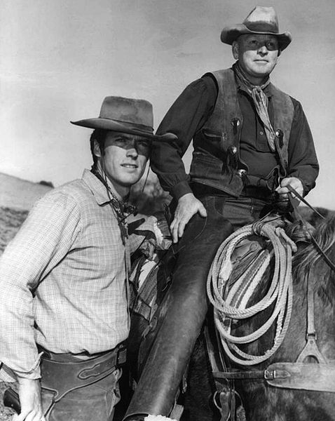 Clint Eastwood and Don Hight in Rawhide Image Source: Wikimedia Commons