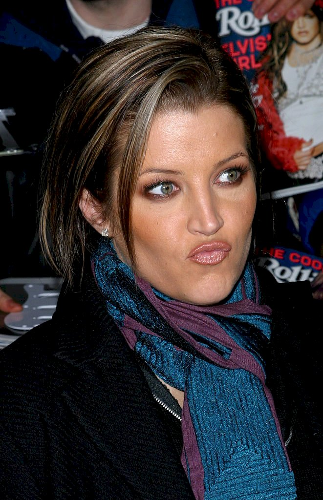 Image Credit: Getty Images / Celebrity Lisa Marie Presley at an event.