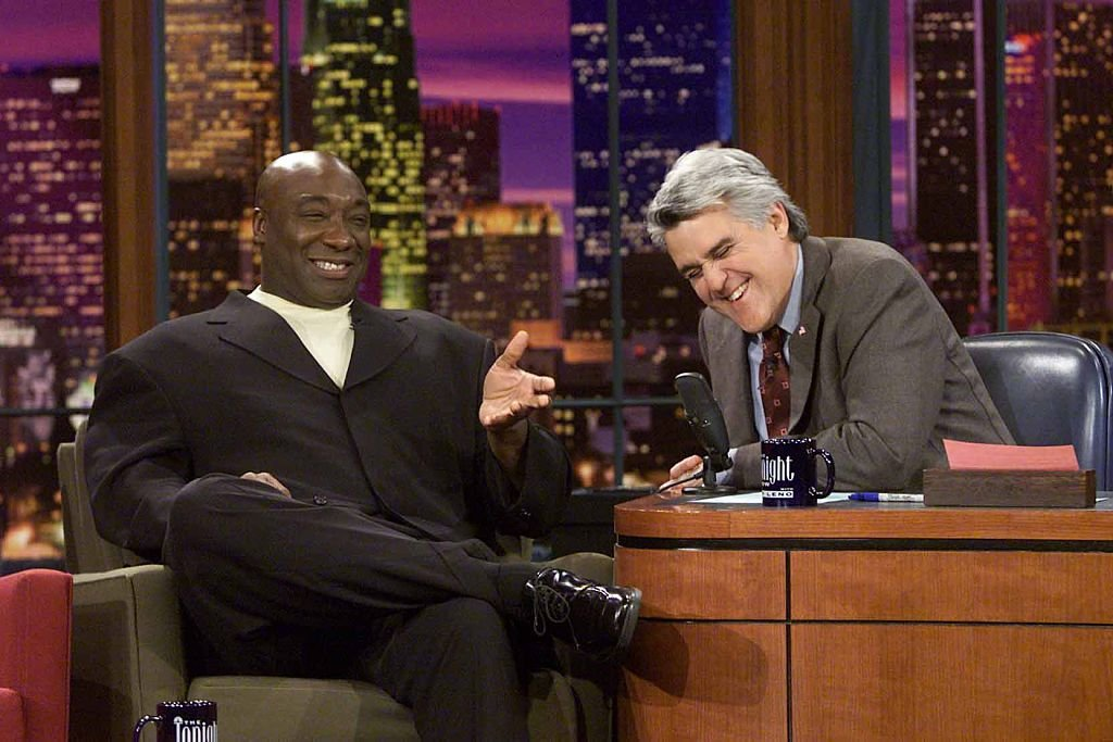 Image Credit: Getty Images / Actor Michael Clarke Duncan during an interview with host Jay Leno on April 17, 2002.
