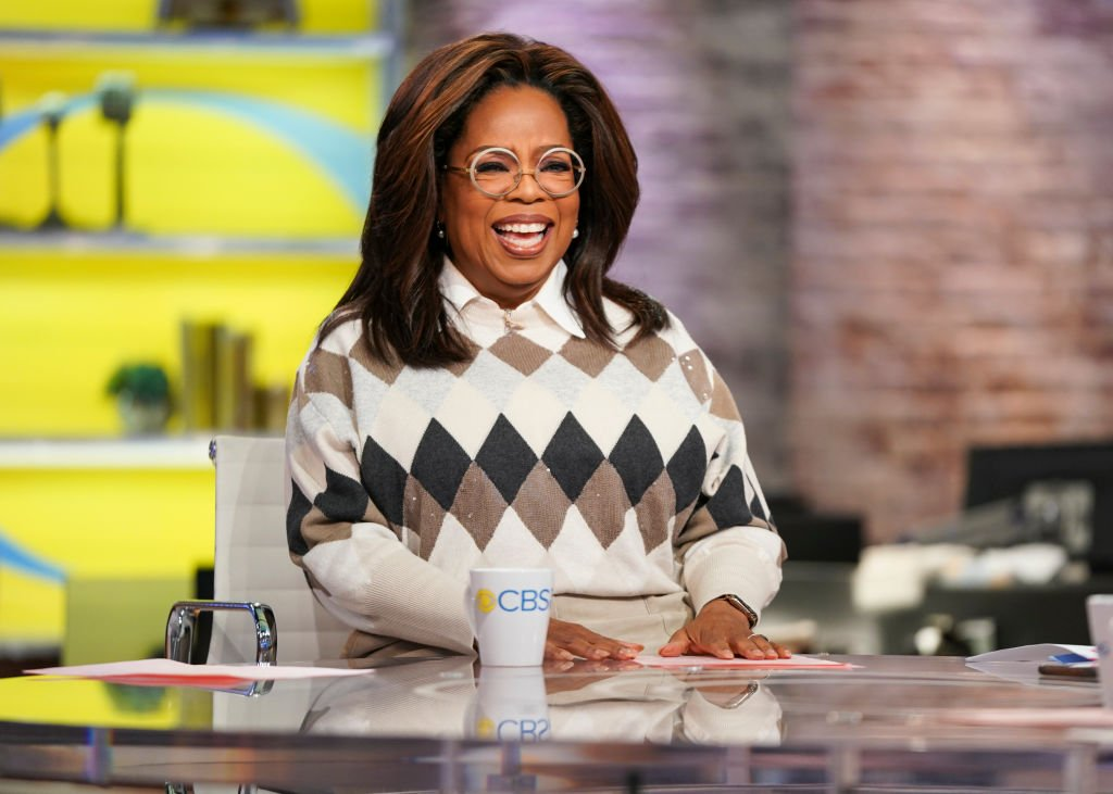 """Image Credit: Getty Images / CBS This Morning Co-Anchors Gayle King, Anthony Mason, and Tony Dokoupil interview Oprah on her new Book Club Selection, """"Olive, Again"""" with author Elizabeth Strout."""