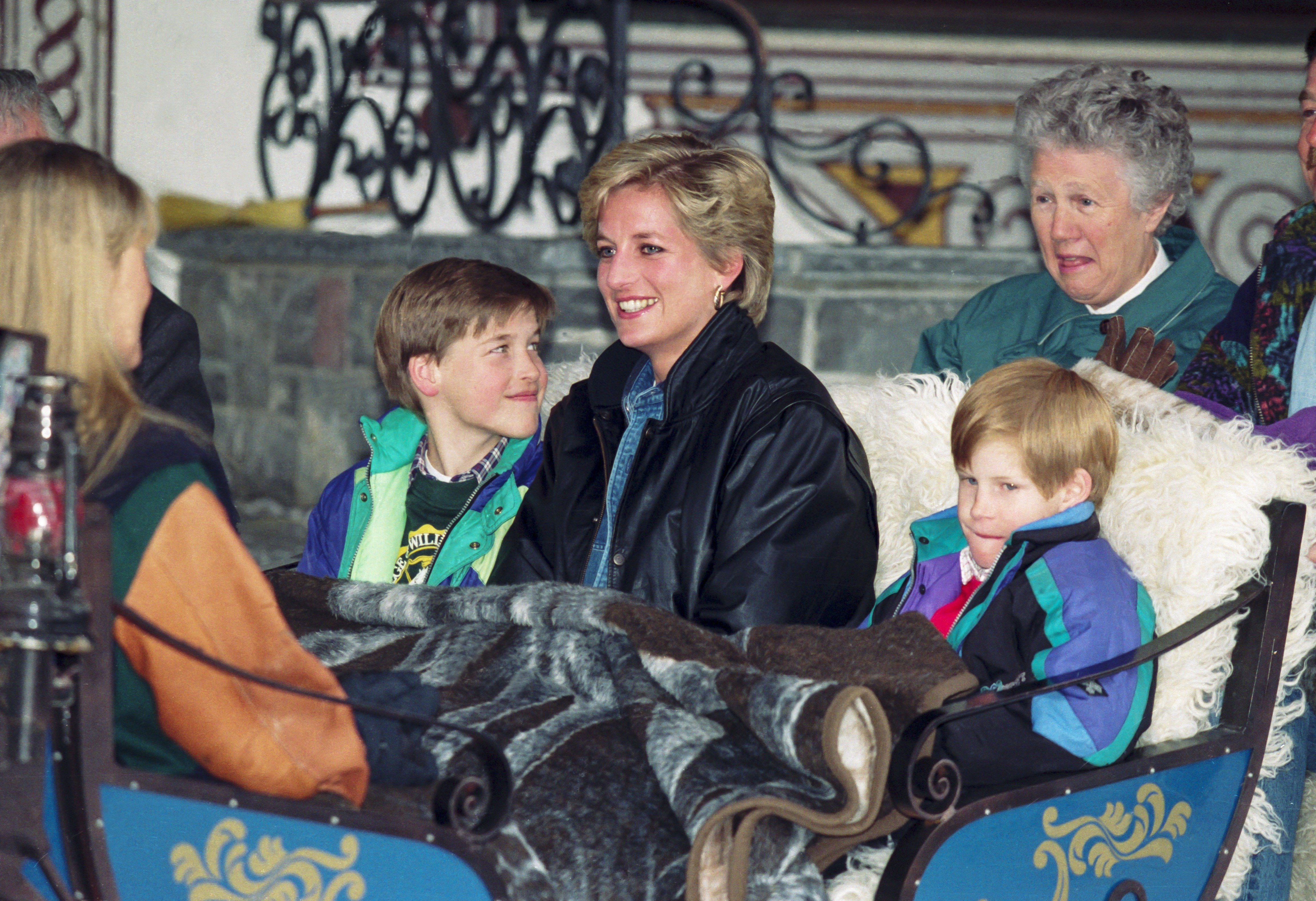 Image Credits: Getty Images | Princess Diana Pictured Spending Quality Time With Her Sons, William (left) And Harry (right)
