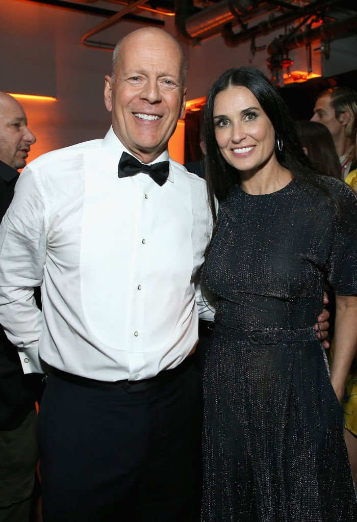 Image Source: Getty Images/Phil Faraone/VMN18/Bruce Willis and Demi Moore attend the after party for the Comedy Central Roast of Bruce Willis at NeueHouse on July 14, 2018 in Los Angeles, California