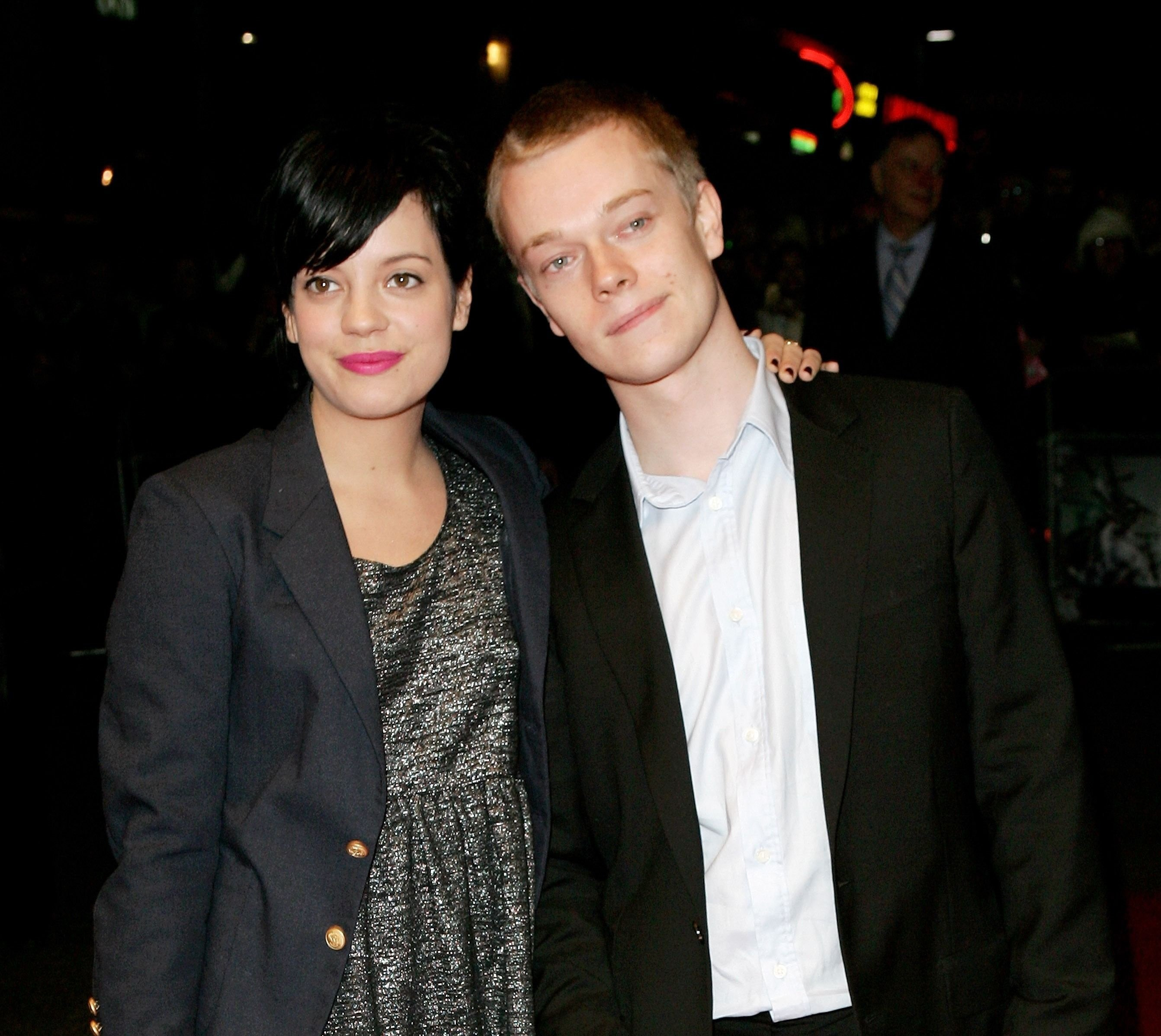 Musician Lily Allen and her brother Alfie Allen arrive at The Times BFI 51st London Film Festival / Getty Images