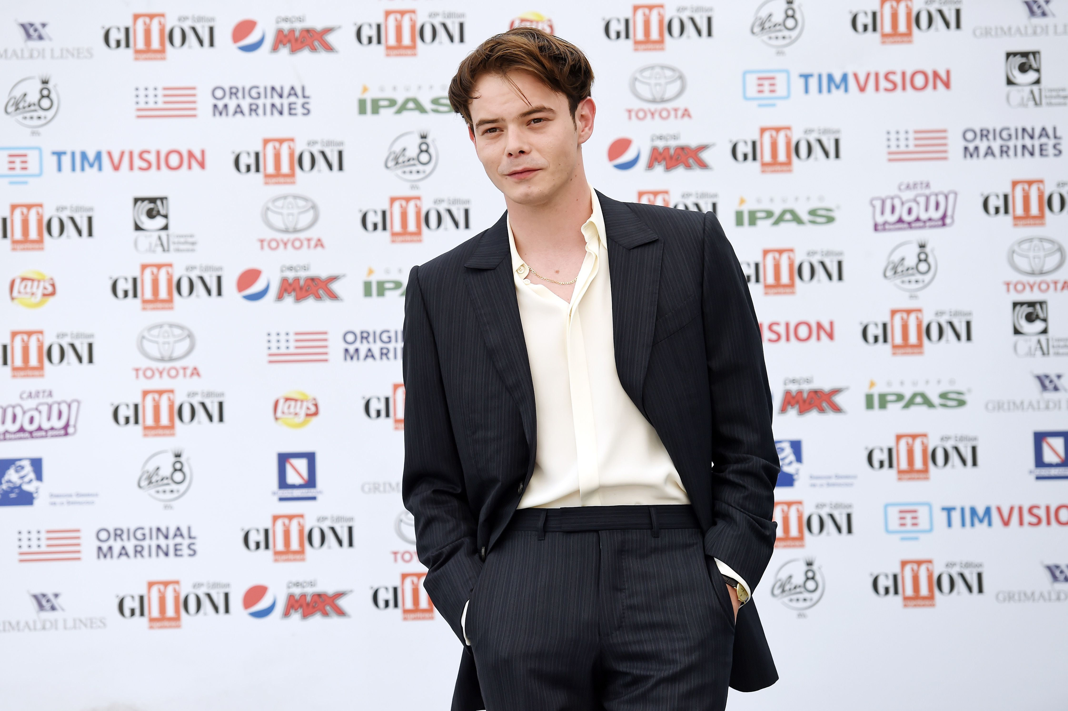 Charlie Heaton at the Giffoni Film Festival 2019 in Giffoni Valle Piana/Photo:Getty Images