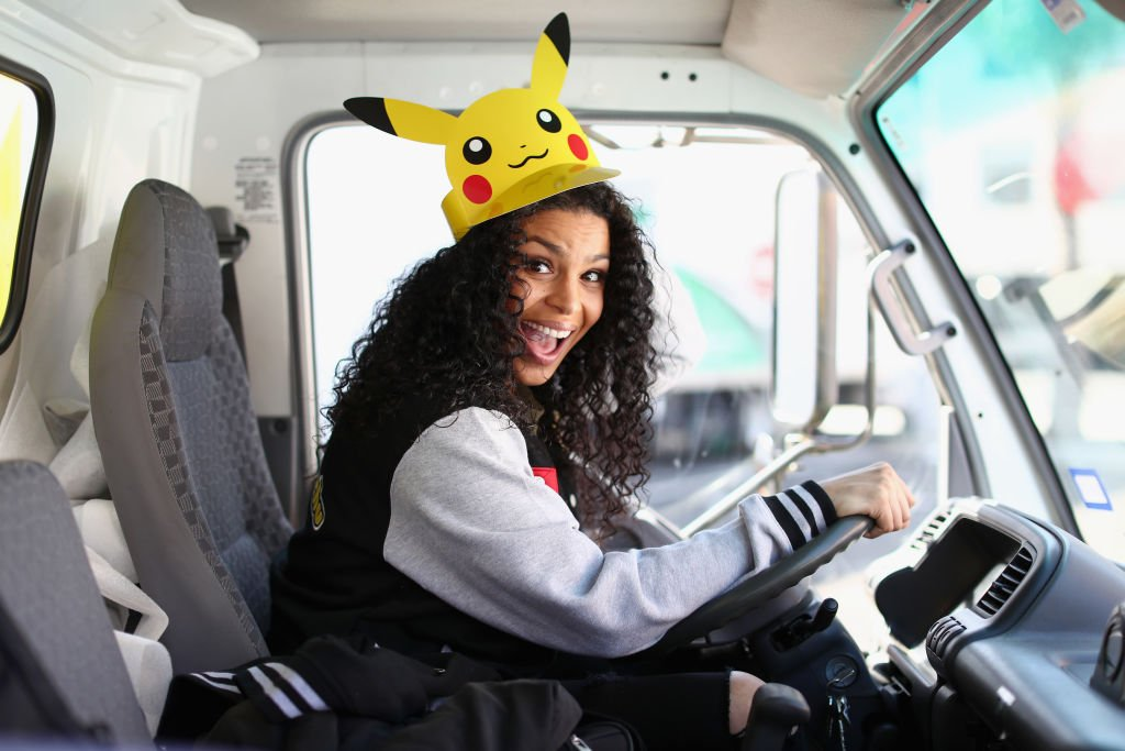Image Credits: Getty Images / Joe Scarnici | Multi-platinum recording artist, actress, and self-proclaimed Pokémon fan Jordin Sparks celebrated the Pokémon: Let's Go, Pikachu! and Pokémon: Let's Go, Eevee! games for the Nintendo Switch system while attending the tour kick-off event on Sept. 29, 2018, in Los Angeles.