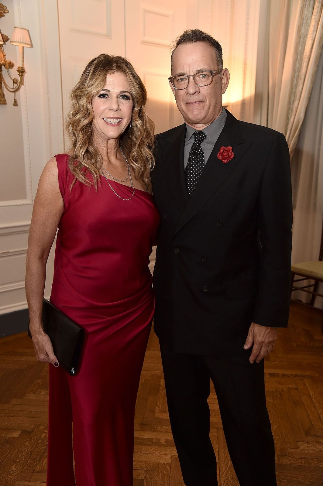 Rita Wilson and Tom Hanks attend the 2018 American Friends of Blerancourt Dinner at Colony Club,2018/Photo:Getty Images