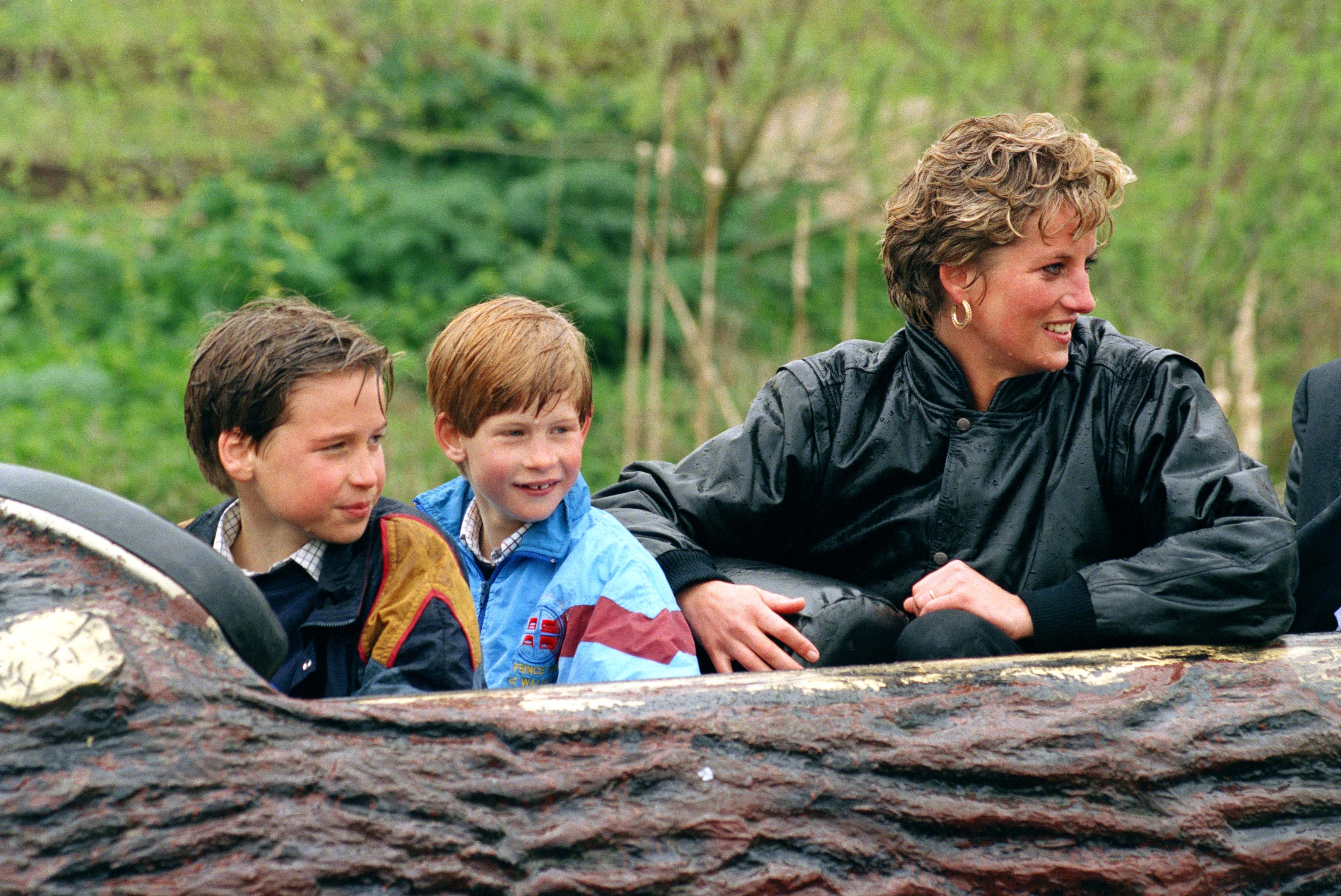 Image Credits: Getty Images | Princess Diana Enjoys Theme Park Ride With William and Harry