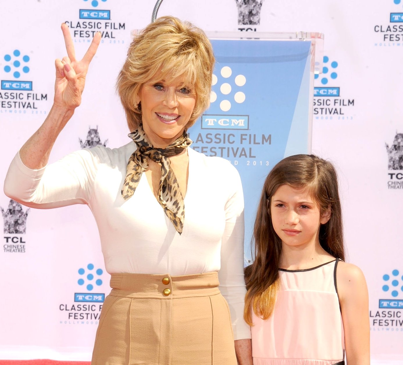 Image Credit: Getty Images/Jane Fonda posing with her granddaughter