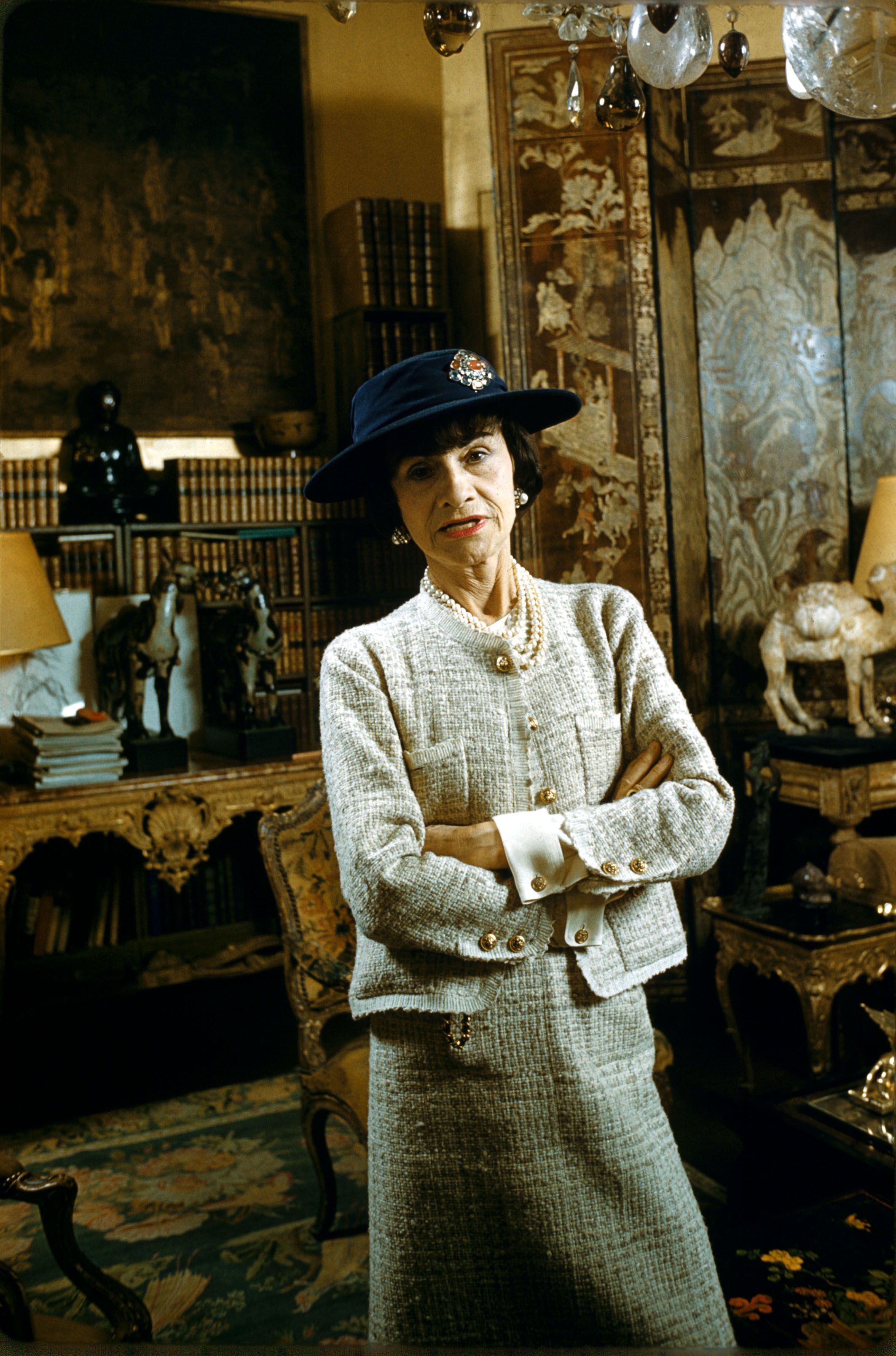Image Source: Getty Images/Gamma-Rapho via Getty Images/KAMMERMAN | Coco Chanel circa 1959