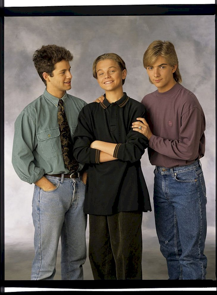 Image Credits: Getty Images / Walt Disney Television | Actors Kirk Cameron, Leonardo DiCaprio, and Jeremy Miller.