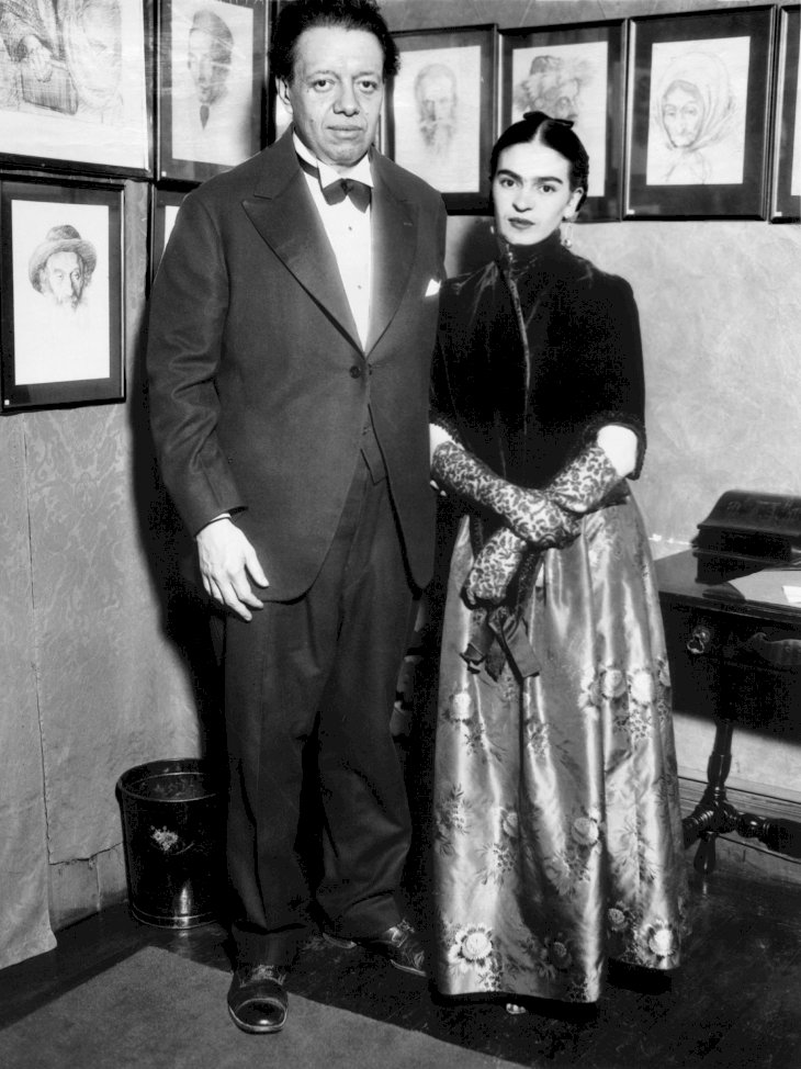 Image Credit: Getty Images / Frida Kahlo with her husband, Diego Rivera.