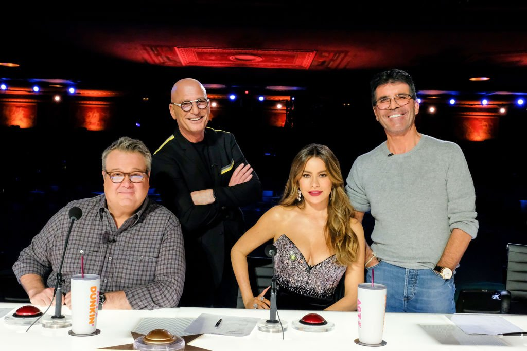 Image Credit: Getty Images / America's Got Talent, Pictured:(l-r) Eric Stonestreet, Howie Mandel, Sofia Vergara, Simon Cowell.