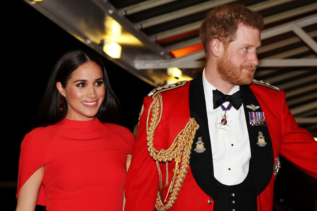 Image Credit: Getty Images / Prince Harry, Duke of Sussex and Meghan, Duchess of Sussex arrive to attend the Mountbatten Music Festival at Royal Albert Hall on March 7, 2020 in London, England.