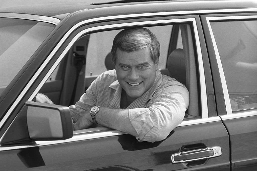 Image Credit: Getty Images / Larry Hagman, American actor and star of soap opera 'Dallas', in October 1983.