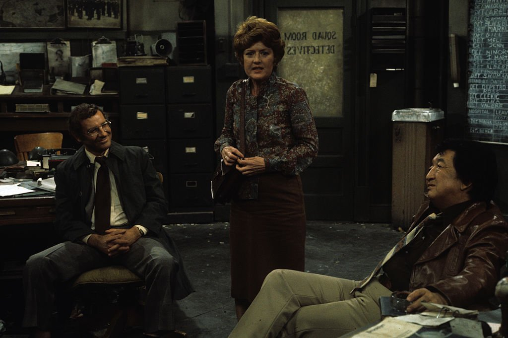 Image Credit: Getty Images / Steve Landesberg, Peggy Pope, Jack Soo on set for Barney Miller.