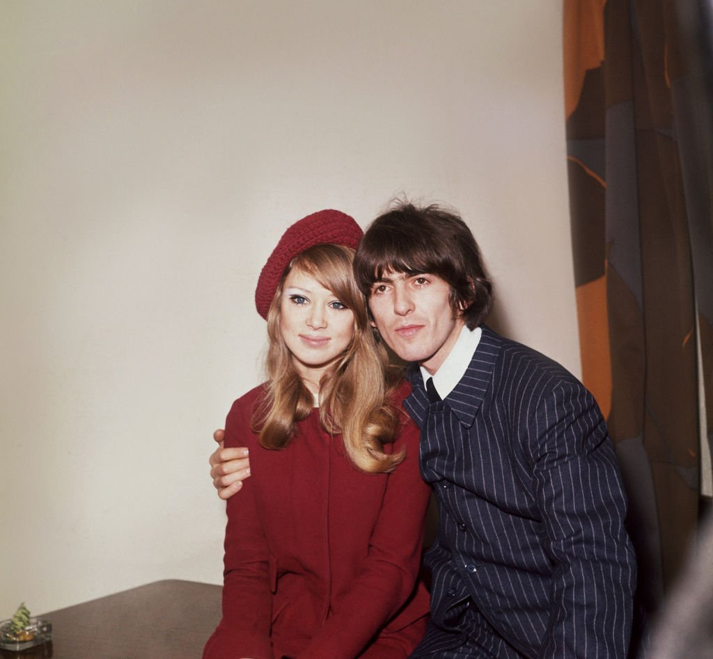 Image Credits: Getty Images / Fox Photos | George Harrison (1943 - 2001), singer, songwriter and guitarist with The Beatles pictured with his wife, model Patti Boyd.