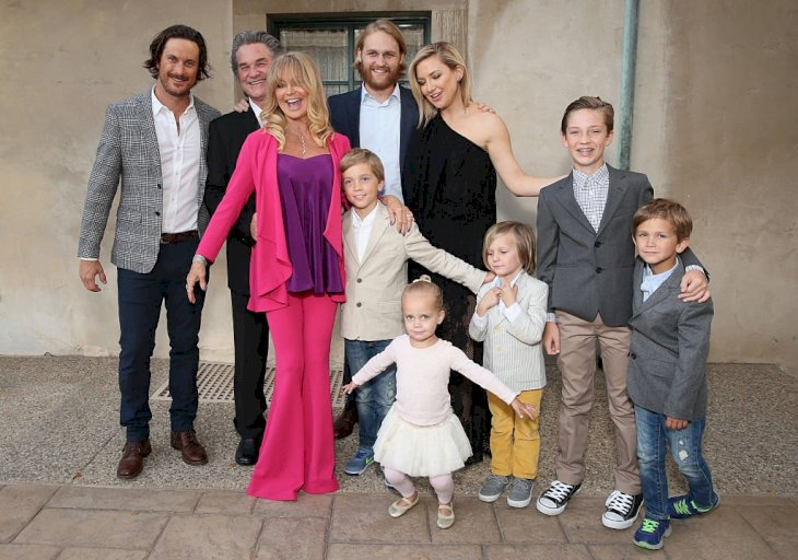 Image Credit: Getty Images / Goldie Hawn and Kurt Russell with their children and grandchildren.