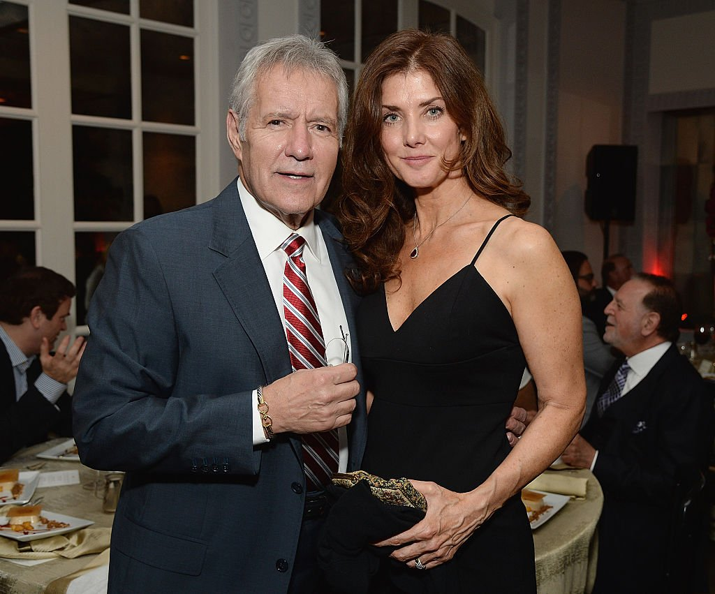 Image Credit: Getty Images / TV host Alex Trebek (L) and Jean Currivan Trebek attend the celebratory dinner after the special tribute to Sophia Loren during the AFI FEST 2014 presented by Audi at Dolby Theatre on November 12, 2014 in Hollywood.