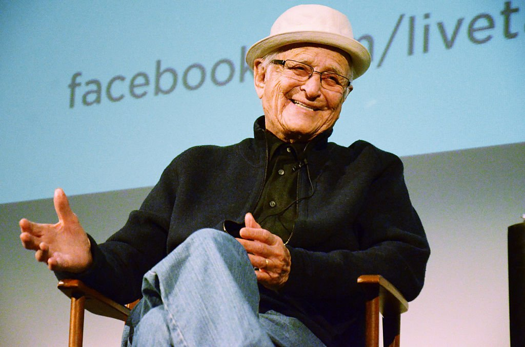 "Image Credits: Getty Images / Beck Starr | An evening with TV producer/screenwriter Norman Lear in conversation with Jane Lynch about his life, career and new book ""Even This I Get To Experience"" at Aero Theatre on March 2, 2015 in Santa Monica, California."