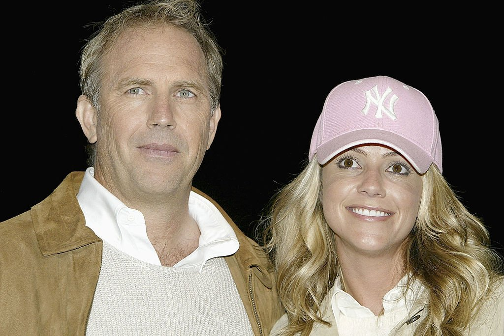 "Image Credit: Getty Images / Actor Kevin Costner and his girlfriend Christine Baumgartner attend the 15th Anniversary DVD Release Celebration of ""Field of Dreams"" on June 9, 2004."