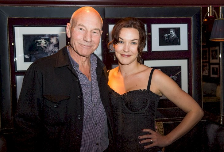 Image Credit: Getty Images/Getty Images For Sunny Ozell/Samir Hussein|Sunny Ozell and boyfriend Sir Patrick Stewartpose at Ronnie Scott's Jazz Bar