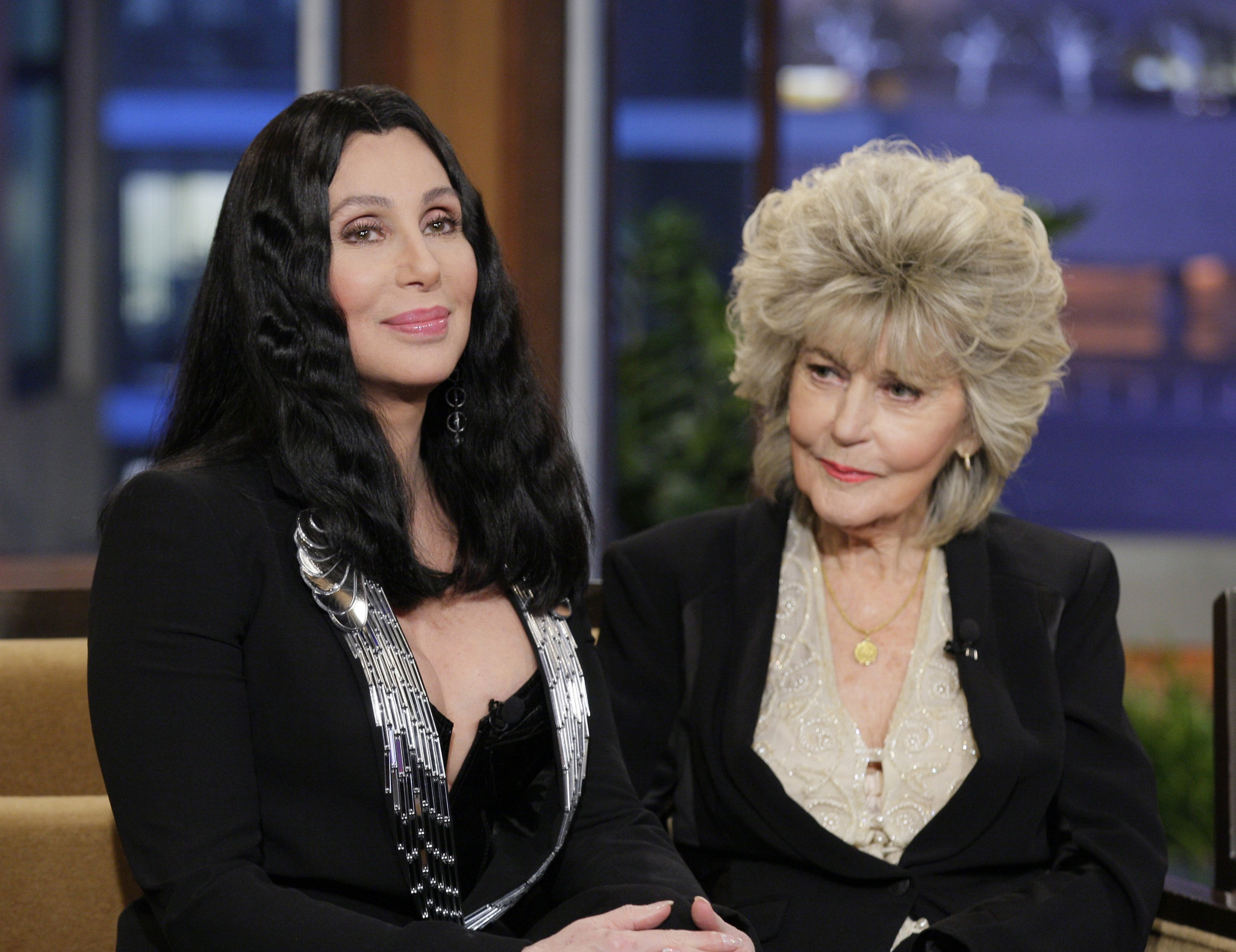 Image Source: Getty Images/Cher and Georgia sharing the stage