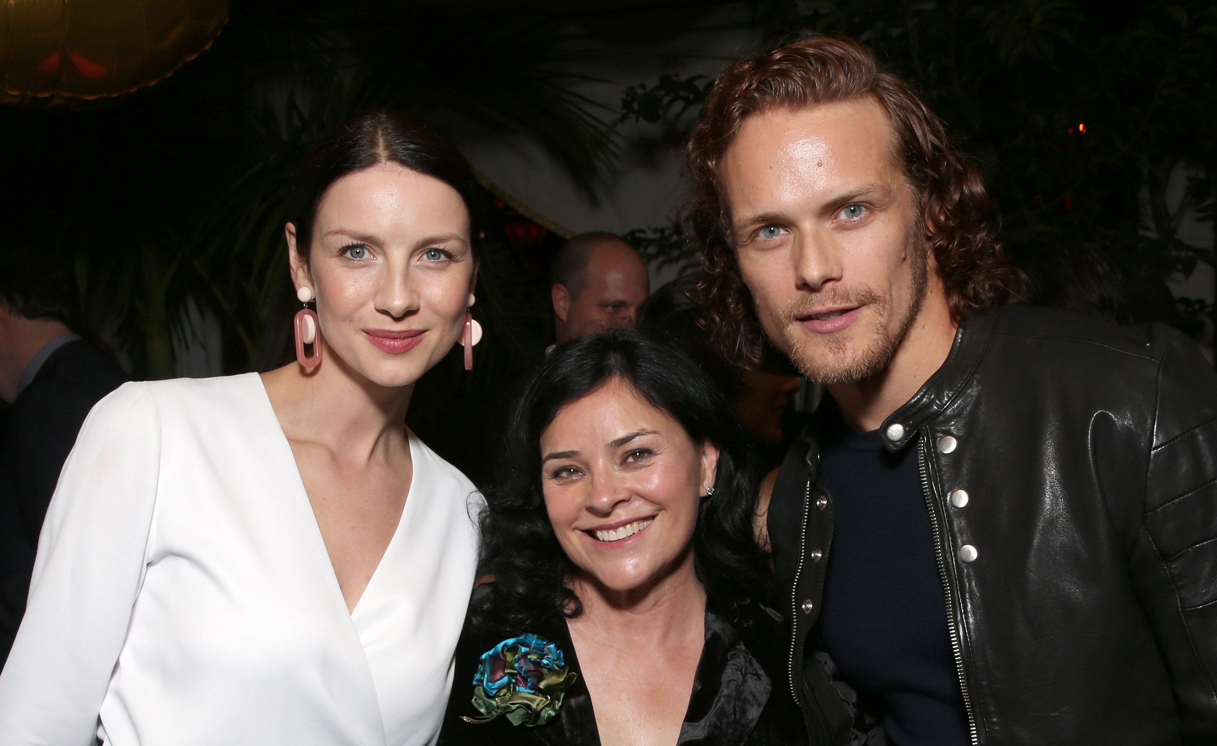 Caitriona Balfe with Diana Gabaldon and Sam Heughan / Photo: Getty Images