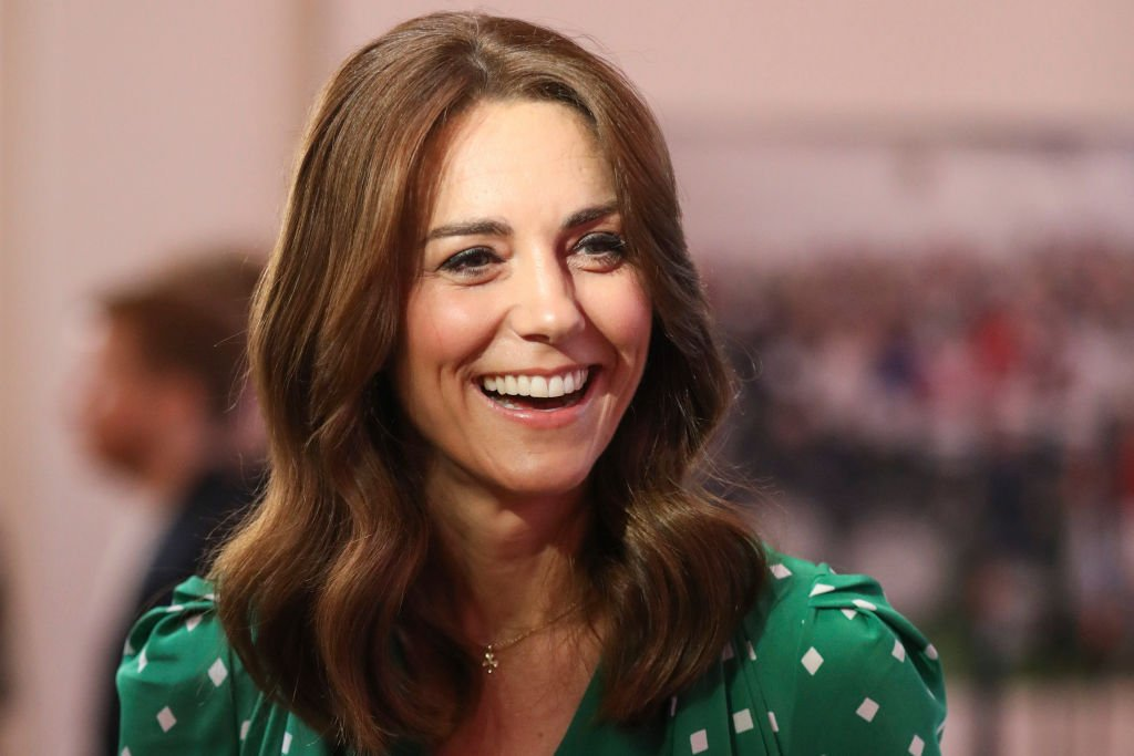 Image Credit: Getty Images / Catherine, Duchess of Cambridge smiles during a meeting with Galway Community Circus performers, local artists and young musicians on March 5, 2020 in Galway, Ireland.