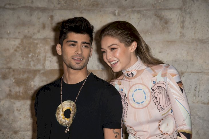 Zayn Malik and Gigi Hadid attend the Givenchy show as part of the Paris Fashion Week Womenswear Spring/Summer 2017/Photo:Getty Images