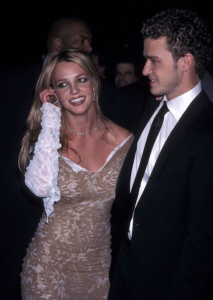 Image Source: Getty Images/Ron Galella, Ltd./Singer Britney Spears and singer Justin Timberlake of N'Sync attend the 44th Annual Grammy Awards Pre-Party Hosted by Clive Davis on February 26, 2002 at Beverly Hills Hotel