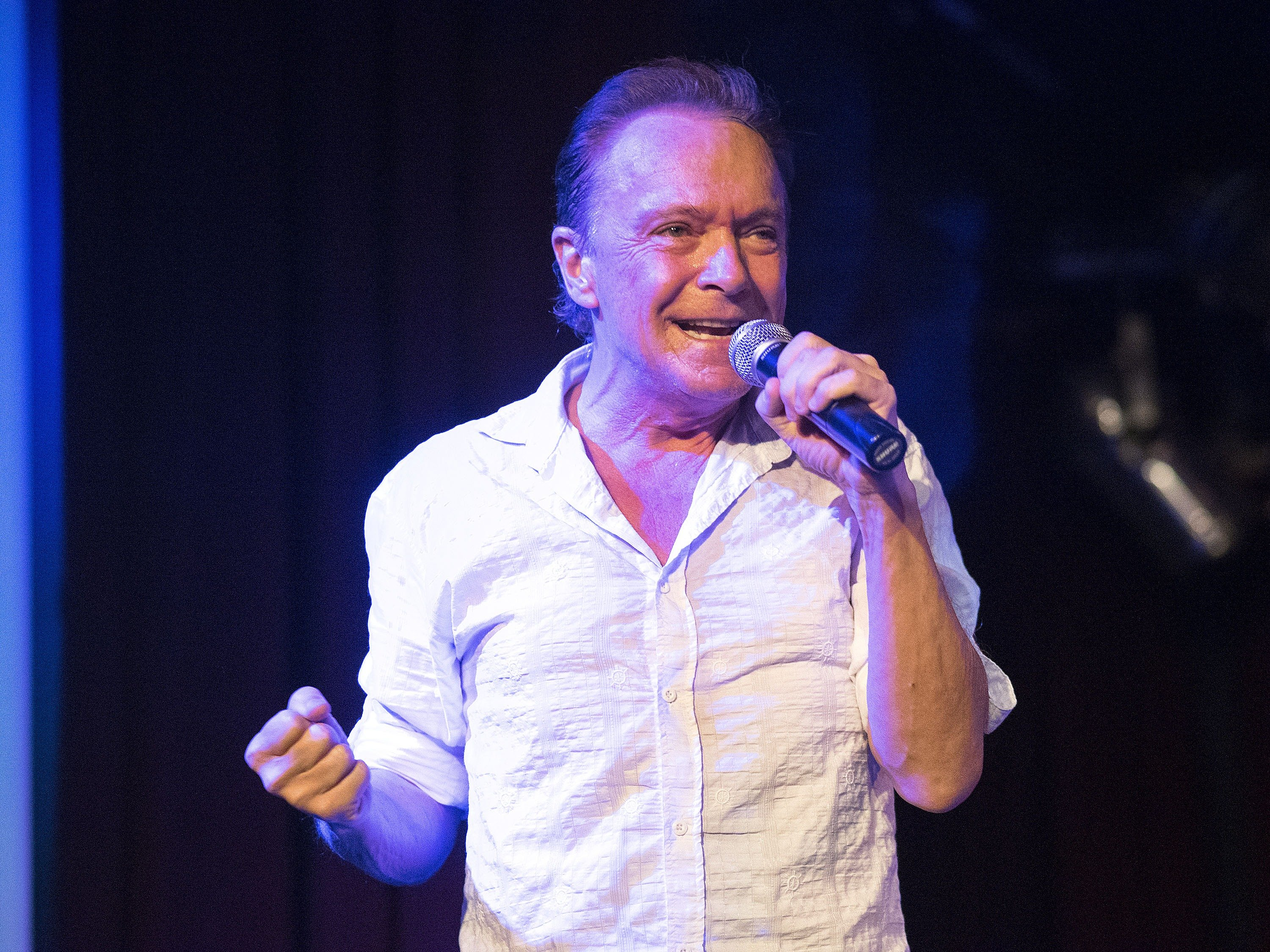 Image Credit: Getty Images / Actor and singer, David Cassidy speaks on stage.