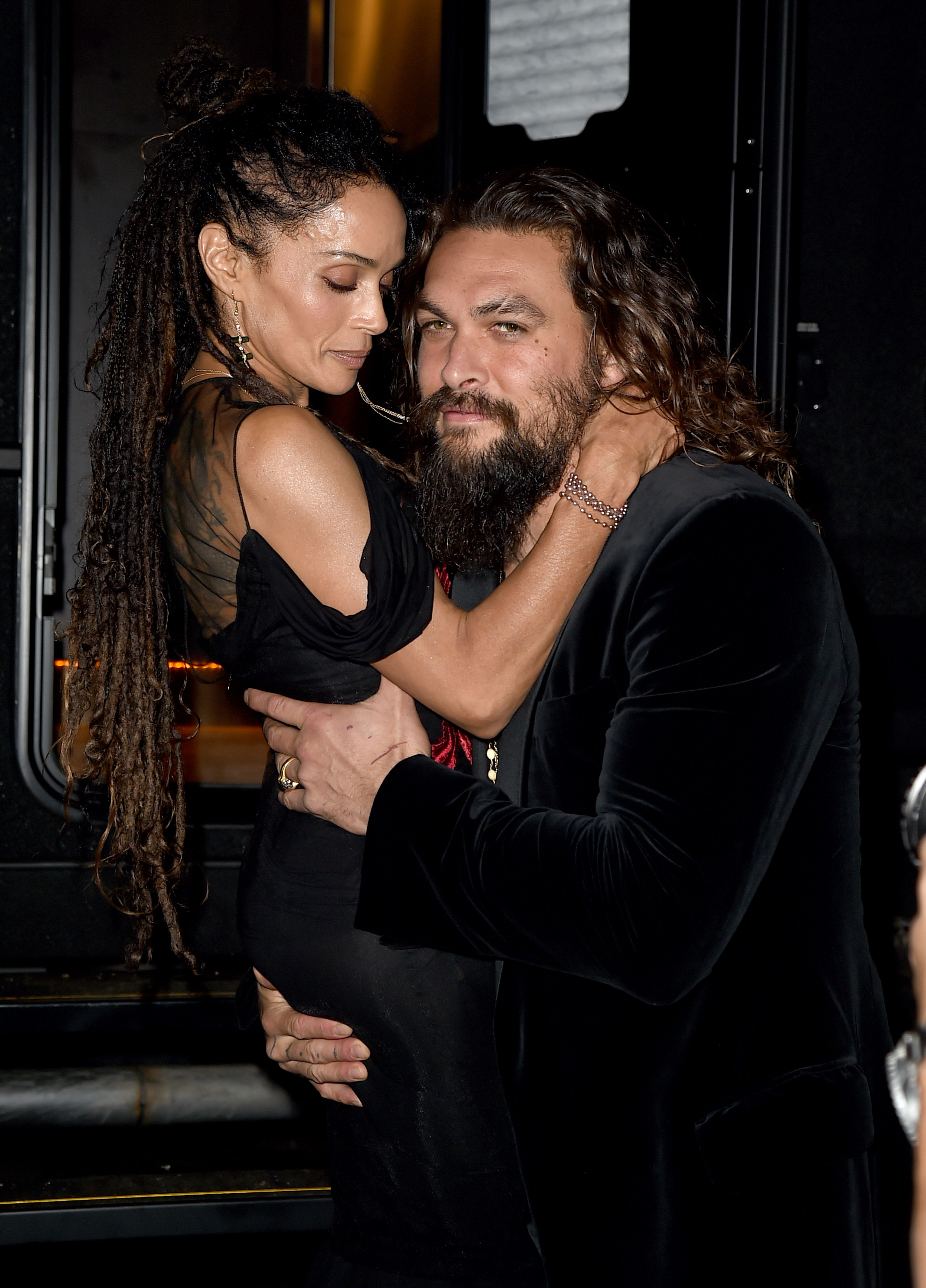 Jason Momoa and his wife Lisa Bonet / Getty Images