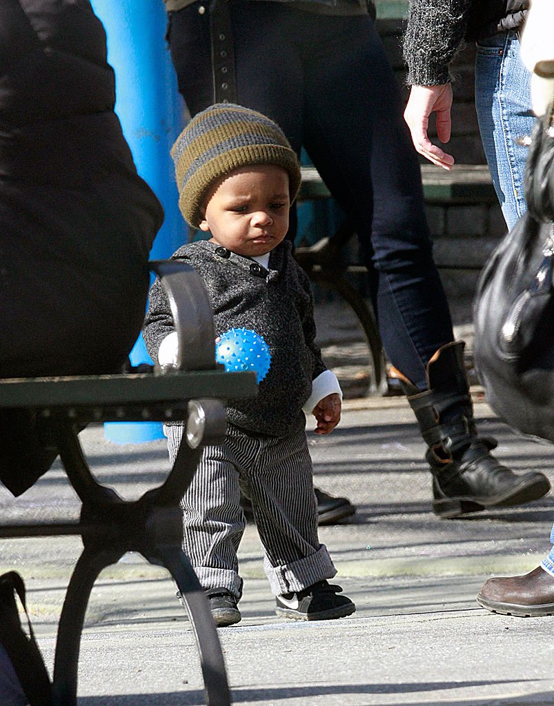 Image Credits: Getty Images / Marcel Thomas / FilmMagic | Actress Sandra Bullock's son Louis Bullock is seen on the streets of Manhattan on March 20, 2011 in New York City.