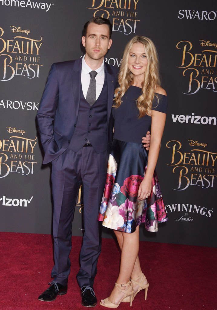 Image Source: Getty Images/WireImage/Jeffrey Mayer | Lewis and Jones at the premier of Disney's Beauty and the Beast