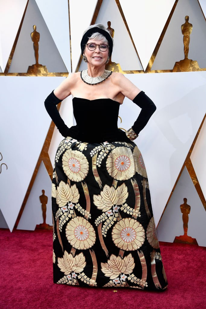 Image Credits: Getty Images / Frazer Harrison | Rita Moreno at the 90th Annual Academy Awards