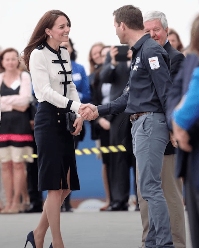 Image Source: Youtube/Entertainment Tonight| Kate wearing an Alexander McQueen outfit