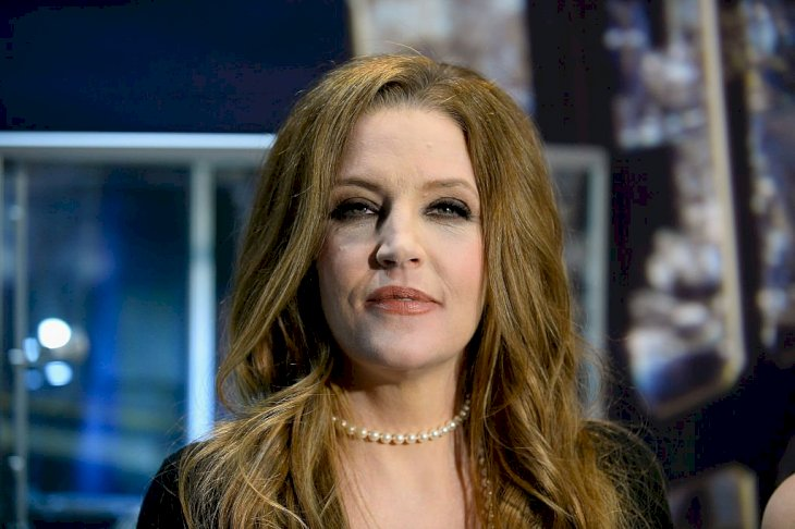 Image Credit: Getty Images / Lisa Marie Presley arrives at an event.