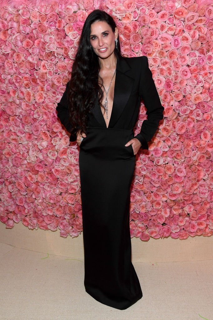 Image Credits: Getty Images / Kevin Mazur / MG19 | Demi Moore attends The 2019 Met Gala Celebrating Camp: Notes on Fashion at Metropolitan Museum of Art on May 06, 2019 in New York City.