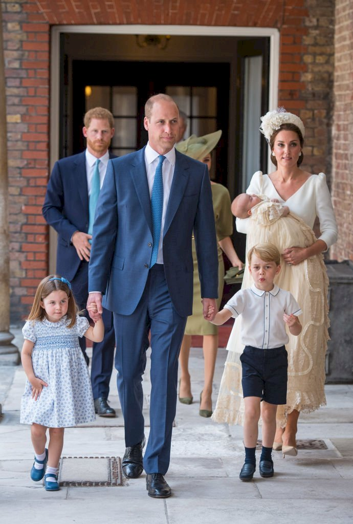 Image Credit: Getty Images / rincess Charlotte and Prince George hold the hands of their father, Prince William, Duke of Cambridge, as they arrive at the Chapel Royal, St James's Palace, London.