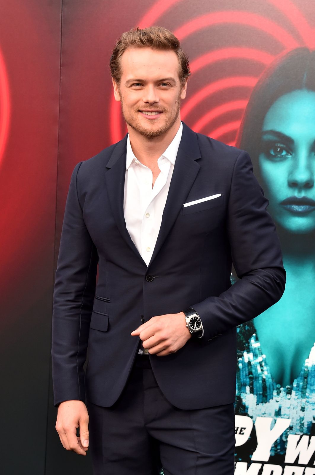 Sam Heughan at a red carpet event/Photo:Getty Images