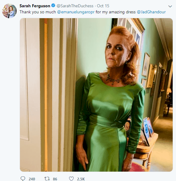Image credit: Twitter/sarahtheduchess