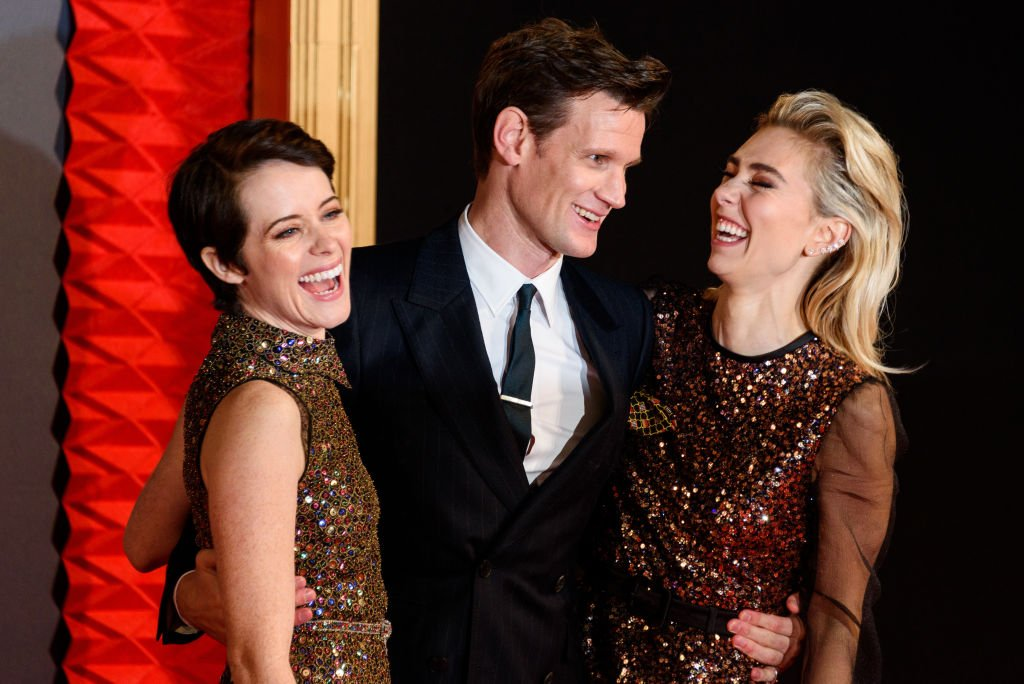 "Image Credits: Getty Images / Joe Maher / FilmMagic | Claire Foy, Matt Smith and Vanessa Kirby attend the World Premiere of season 2 of Netflix ""The Crown"" at Odeon Leicester Square on November 21, 2017 in London, England."
