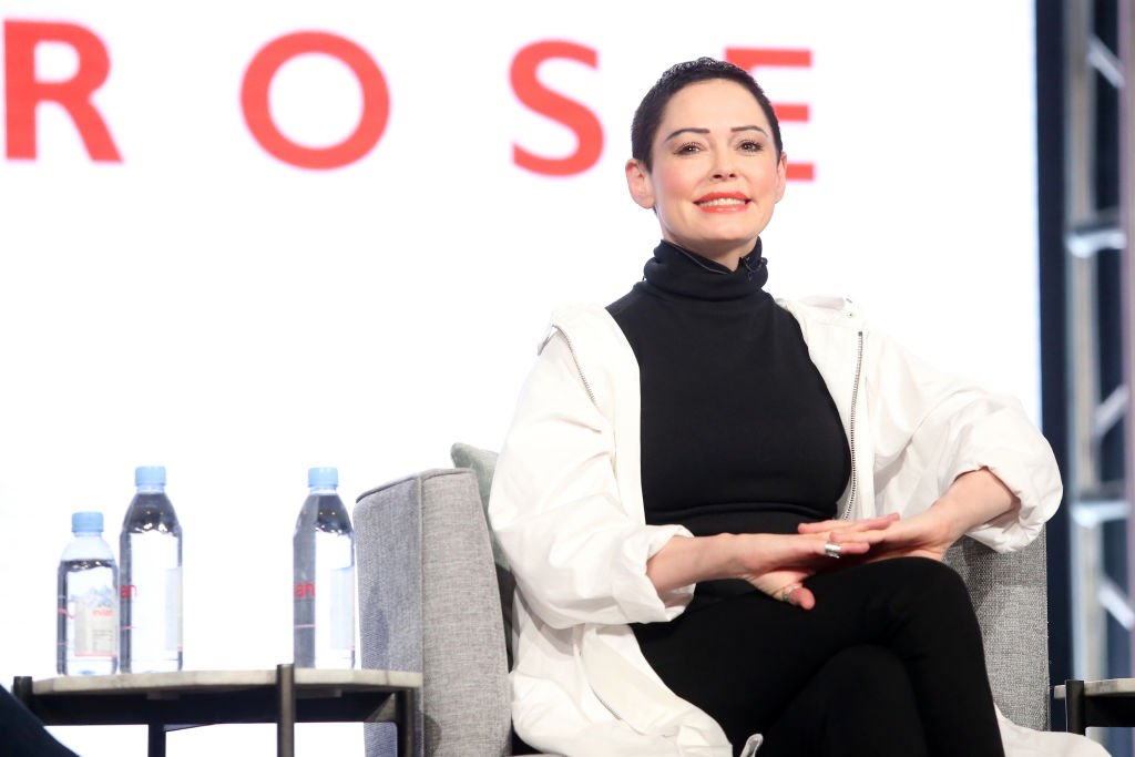 Image Credit: Getty Images / Artist/Activist/Executive producer Rose McGowan of 'Citizen Rose' on E! speaks onstage during the NBCUniversal portion of the 2018 Winter Television Critics Association Press Tour.